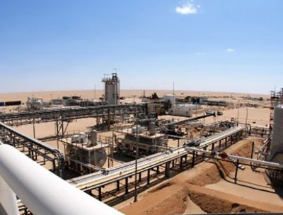 Onshore oil and gas production in Libya
