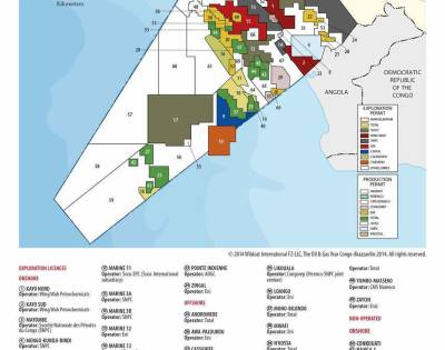 Congo-Brazzaville Hydrocarbons Blocks Map