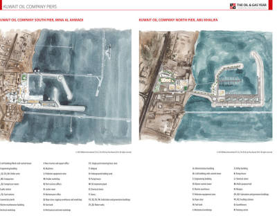 Kuwait Oil Company Piers Map
