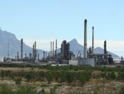 Chevron's refinery in Cape Town, South Africa