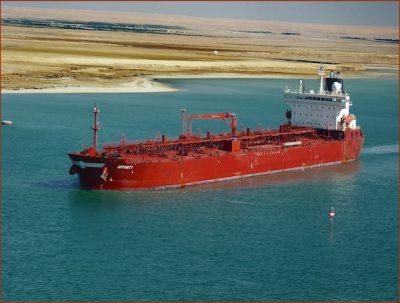 Oil tanker in Suez Canal