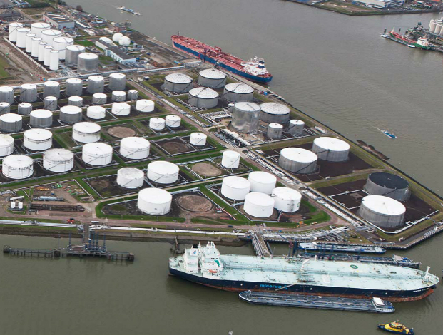 Oil down as rising stockpiles point to slow recovery