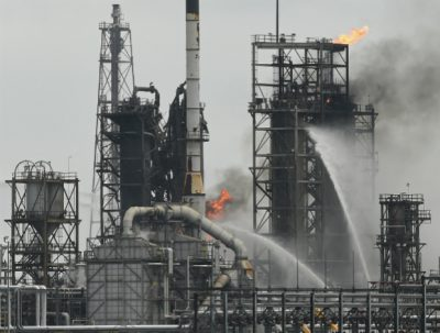 refinery, fire, explosion