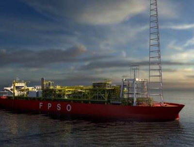 Kaombo Norte, the first FPSO for Angola's Block 32, left its base in Singapore for marine tests on Tuesday, Laurent Maurel, Total E&P Angola's general manager, told TOGY.