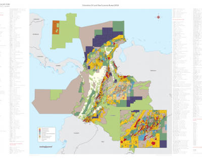 Colombia Oil and Gas Licence Areas 2019